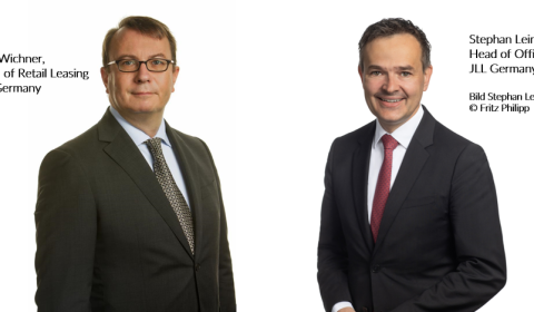 Quelle: JLL - links: Dirk Wichner, Head of Retail Leasing JLL Germany/ rechts: Stephan Leimbach (Bild Stephan Leimbach, © Fritz Philipp)