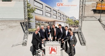 GfK, Nürnberg, Grundsteinlegun (c) Art-Invest Real Estate