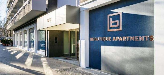 Beautique Apartments outside Copyright Skjerven Group