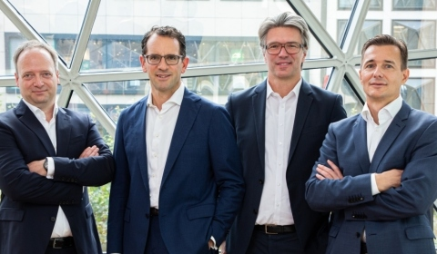 Team Sonar RE v. l. n. r.: Daniel Jäde, Christoph Wittkop, Matthias Gerloff, Nick Puschkasch, Copyright: Sonar Real Estate
