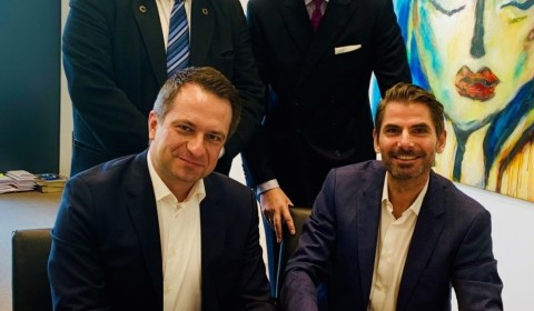 Bild (v.l.n.r.): Thomas Spinnler (General Counsel Germany, IWG), Marco Wild (Franchise Director Germany, IWG), Dr. Ralph Altenburger (Planet9 Investments), Daniel Grimm (Development Director Germany, IWG).