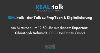 Christoph Schmidt im REAL:talk bei Clubhouse